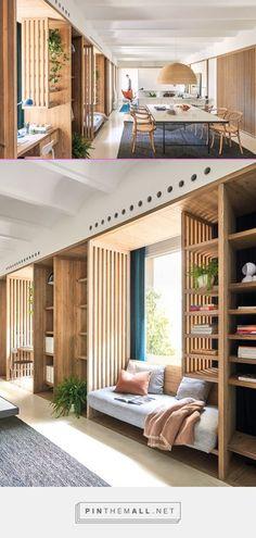 Small Space Interior Design, Office Interior Design, Interior Design Living Room, Built In Furniture, Furniture Design, House Layouts, Apartment Design, Interior Architecture, Small Spaces