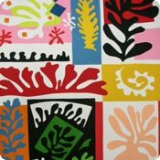 Composition: Coral from Matisse line by Alexander Henry Fabrics- Fat Quarter