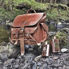 The Front Pocket Backpack looks right at home on the Isle of Skye Scotland. Thanks @mmmoulton !#saddlebackleather