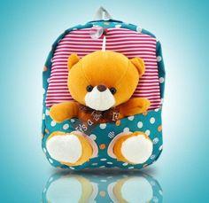 2017 children school bags cute infant walking wings backpacks cartoon bear for kid bags kindergarten mochilas escolares infantis