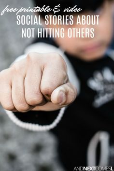A collection of free social stories about hitting others and why it's not okay, including some free printable social stories for kids Social Skills Lessons, Social Skills Activities, Teaching Social Skills, Life Skills, Social Stories Autism, Social Emotional Development, Social Behavior, Behavior Management, Preschool Special Education