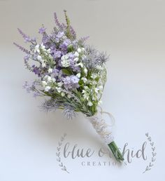 Purple Wildflower Bouquet  Rustic Bouquet by blueorchidcreations