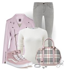 """""""Burberry Tote"""" by dgia ❤ liked on Polyvore featuring Frame Denim, Lot78, Allude, Burberry, Vans and Lord & Taylor"""