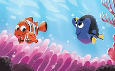Finding nemo buscando a nemo pixar fun in 2019 рисунки, иллю Disney Pixar, Arte Disney, Disney Animation, Disney Paintings, Disney Artwork, Disney Drawings, Nemo Wallpaper, Disney Wallpaper, Disney Illustration