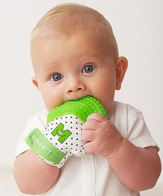 Even though I don't have babies anymore (boo-hoo), I think this product is just BRILLIANT and had to share. Of course, others feel the same way because its already sold out! ;-) Green Munch Mitt on #zulily! #zulilyfinds