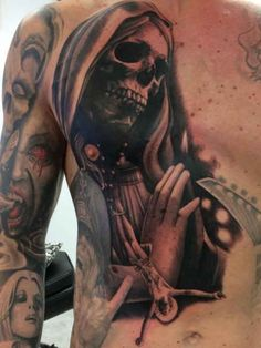 1000 images about horror tattoos on pinterest horror tattoos grim reaper and horror. Black Bedroom Furniture Sets. Home Design Ideas