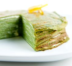 Matcha is a mainstay in Japanese recipes. Stock up on anti-oxidants while you indulge your sweet tooth, with these delicious green tea dessert recipes. Green Tea Recipes, Sweet Recipes, Cake Recipes, Dessert Recipes, Desserts, Yummy Recipes, Crepes, Green Tea Crepe Cake, Gateaux Cake