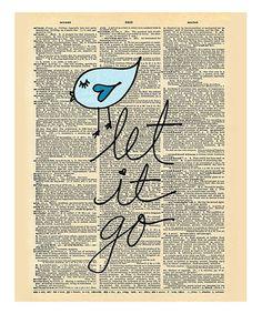 Look at this #zulilyfind! 'Let It Go' Dictionary Print #zulilyfinds