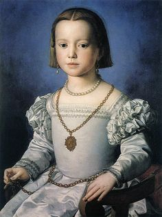 Agnolo Bronzino - Renaissance Portraits of Women - Bia, The illegitimate Daughter of Cosimo I de Medici, 1542 Costume Renaissance, Renaissance Mode, Renaissance Portraits, Renaissance Paintings, Renaissance Fashion, Victorian Portraits, Galerie Des Offices, Florence, Italian Painters
