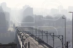 bridge, brig, causeway, infinite, endless, boundless, infinitive, ilimitable, mist, fog, haze, cloud, blur, city, skyline, oporto, portugal