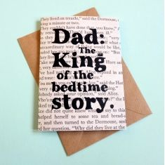 Bedtime story Father's Day card