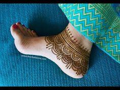 मेहंदी से बनायें पैरों के लिए सुंदर पायल | STYLISH HENNA MEHENDI ANKLET DESIGN FOR FEET - YouTube