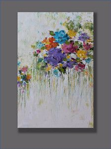 Original Oil Painting Happy Childhood Abstract Painting Wall Art Wall Hanging Decorative Arts Wall Decor Home Decor Oil Gift Ideas Acrylic Painting Flowers, Abstract Flowers, Acrylic Art, Diy Canvas Art, Watercolor Paintings, Original Paintings, Flower Art, Wall Decor, Wall Art