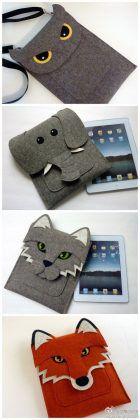 Cool Wool Felt Animal iPad Case, MacBook and Kindle Sleeves