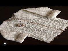 Free Aran Knitting Patterns, Baby Cardigan Knitting Pattern Free, Baby Sweater Patterns, Baby Girl Patterns, Baby Shoes Pattern, Knitted Baby Cardigan, Knitted Baby Clothes, Baby Pullover Muster, Jacket Pattern
