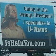 Saw this on the road one day.#jesus #christce  #driving #takingpicswhiledrivingisdangerous.