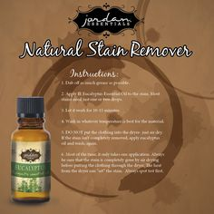 Natural Stain Remover using JE Essential Oils.