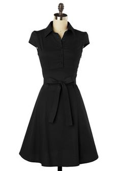 Soda Fountain Dress in Cola. This midnight black, 1950s-inspired dress is perfect for an after-school date at the ice cream parlor! #black #modcloth