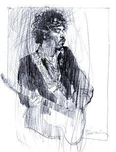 Jimi Hendrix by Bill Sienkiewicz