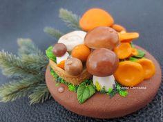 Купить Баночка с декором Урожай Грибы - рыжий, коричневый, грибы, грибочки, грибной урожай