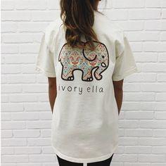 Ivory Ella Cotton Tee Shirt for women - Just-Trendy.com - 10