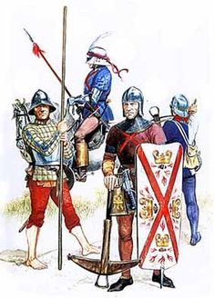 Men at arms Burgundy 14th Century
