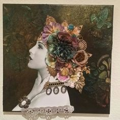 My first attempt at a Finnebair 3D mixed media canvas. Created by Joanne Ashley. Inspired by Angela Holt of Angela Holt Designs. Check her out on YouTube.