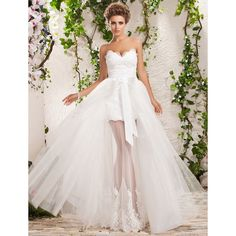 Two-In-One A-line Wedding Dress//