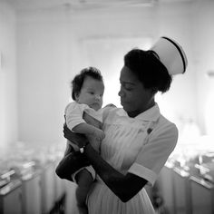 nurse with baby, Vivian Maier