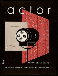 [Screen Actor magazine cover designed by Alvin Lustig]