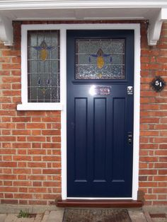1930's front door with flat panels (207.2)