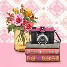 size: Premium Giclee Print: Smile Vintage Vignette by Art Atelier Alliance : Entertainment Camera Illustration, Illustration Artists, Canvas Art, Canvas Prints, Art Prints, Vintage Vignettes, Camera Art, Camera Painting, Framed Artwork