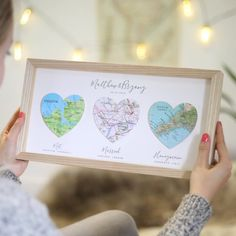 Your Story Personalised Map Heart Couples Gift by Bombus, the perfect gift for Explore more unique gifts in our curated marketplace. Paper Wedding Anniversary Gift, Anniversary Gifts For Husband, Heart Map, Heart Wall Art, Valentines Frames, Fabric Cards, Wedding Keepsakes, Wooden Gifts, Custom Map