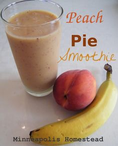 A Minneapolis Homestead: Peach Pie Smoothie Recipe (Vegan, Paleo, Raw, Dair...