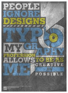 Typography - People Ignore - from DeviantArt