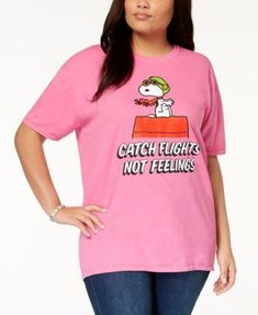 6b92182e Hybrid Plus Size Snoopy T-Shirt Medium pink 2X Hybrid Plus Size Snoopy T- Shirt Medium pink 2X
