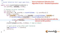 How to Implement Selection Sort #Algorithm in #Java from Crunchify, LLC. http://crunchify.com/how-to-implement-selection-sort-algorithm-in-java-detailed-explanation/?utm_content=buffer1f272&utm_medium=social&utm_source=pinterest.com&utm_campaign=buffer #tips