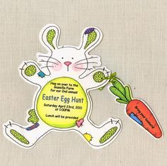 10 Easter / Birthday Party Invitations - Egg Hunt - Handcut and Personalized