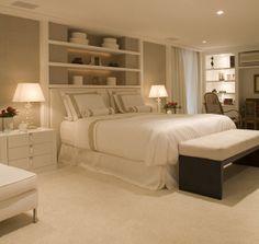 Love the shelves above the headboard... design by Christina Hamoui #homedecorating #homedecor #bedroom