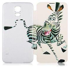 Zebra Pattern PU Leather Full Body Case for Samsung Galaxy S5 I9600 - USD $ 6.99