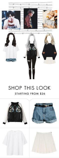"""""""Maknae line gender swap (BTS)"""" by respir ❤ liked on Polyvore featuring Retrò and Monki"""