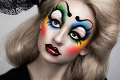Multicolored Clown Makeup on Designs Next http://www.designsnext.com/top-5-clown-makeup-ideas/