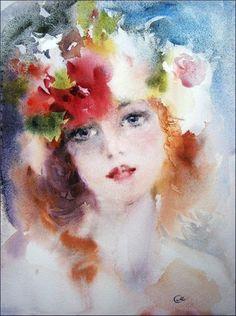 Aquarelle de Maria Stezhko (Акварели Марии Стежко) Tellement de délicatesse dans cette toile, c'est de toute beauté.:
