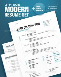 20 Best Resume Templates   Graphic & Web Design Inspiration + Resources