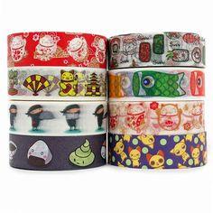 Kawaii Japanese Pattern Washi Tapes #backtoschool #stationery #schoolsupplies School Supplies For Teachers, Teacher Supplies, Back To School Supplies, Back To School Gifts, Kawaii Stationery, Stationery Items, Cute Japanese, Japanese Style, Kawaii Pens