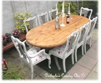 159.  Stunning Bespoke Pine Table and 8 Solid Oak Chairs