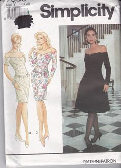 Uncut Simplicity Sewing Pattern 7568 Off The by Ziatacraft on Etsy