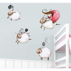 sticker decorativo ovelhas
