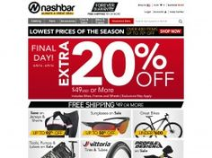 Nashbar is a very popular store for bikes, bike parts, cycling gear, clothing and many other accessories. Buy your favourite bike at low prices by using Nashbar promo codes and claim fantastic savings. Nashbar coupon codes, whenever available, can fetch you discounts of up to 20% on your orders. So watch out. For all the latest Nashbar promotional offers visit FreeShipping-Code.com and save on your next purchase. http://www.freeshipping-code.com/coupons/nashbar-promo-codes/
