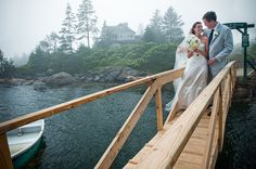 Want an oceanfront wedding in the states? You get your own private ocean view at Newagen Seaside Inn, located in Maine. #DestinationWedding